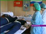 Выездная бригада станции переливания крови в УГИБДД УВД по Мурманской области